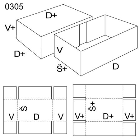 Obrázek z Krabice s víkem 0305