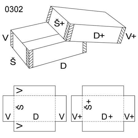 Obrázek z Krabice s víkem 0302