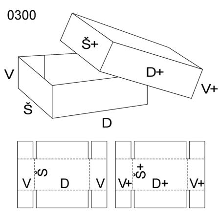 Obrázek z Krabice s víkem 0300