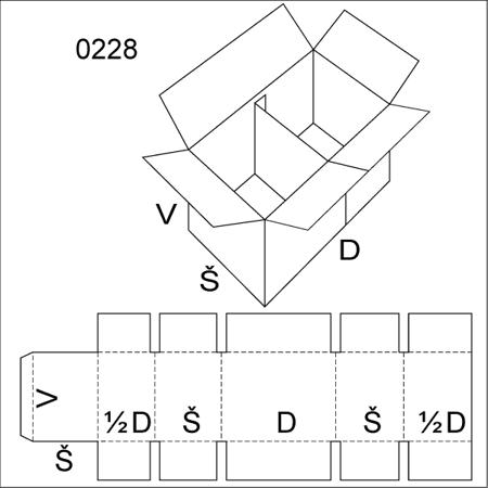 Obrázek z Klopová krabice 0228
