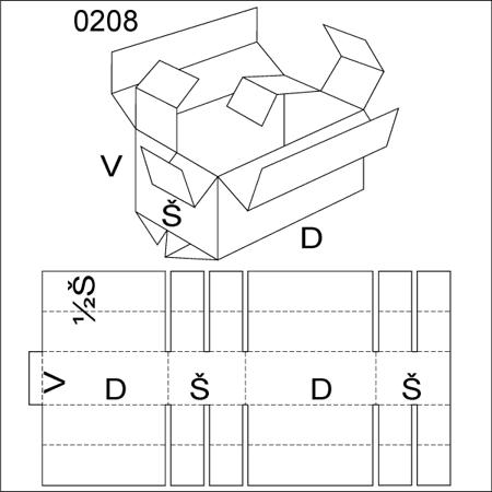 Obrázek z Klopová krabice 0208