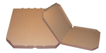 Obrázek Pizza krabice, 40 cm, hnědo hnědá bez potisku