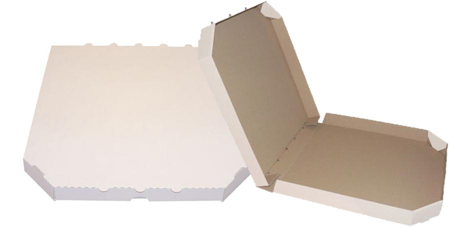 Obrázek z Pizza krabice, 40 cm, bílo bílá bez potisku
