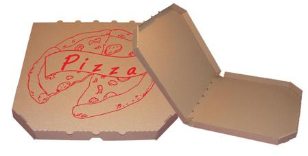 Obrázek z Pizza krabice, 35 cm, hnědo hnědá s potiskem