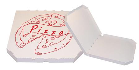Obrázek z Pizza krabice, 30 cm, bílo bílá s potiskem